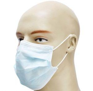 Máscaras descartáveis confeccionadas em não tecido (TNT) de elástico