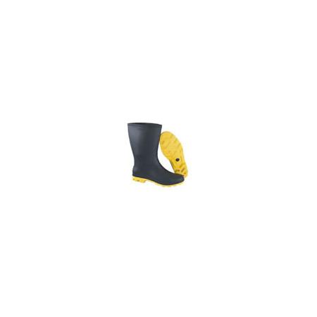Bota de PVC com solado amarelo